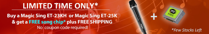 Buy magic sing and get free song chip
